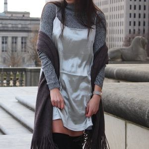 Urban Outfitters Silver Slip Dress